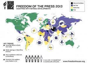 Freedom House: România, pe ultimul loc în UE la libertatea presei