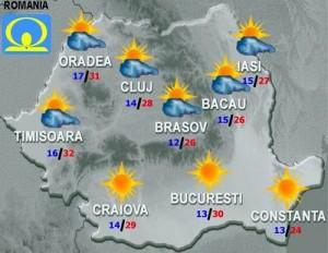 Meteo. Cum va fi vremea joi şi vineri în ţară şi în Bucureşti mediu