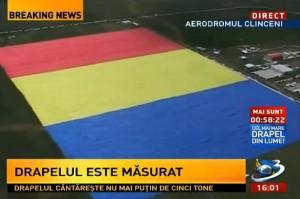 Clinceni. Tricolorul românesc, cel mai mare steag din lume