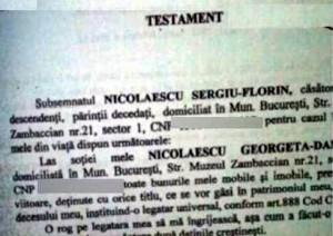 Testament, Sergiu Nicolaescu. A cerut să fie înmormântat creştineşte life