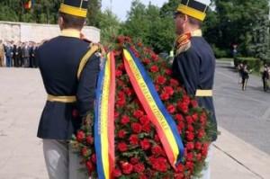 Depuneri de coroane la Monumentul Eroilor din Al Doilea Război Mondial