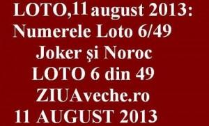 Loto, 11 august 2013: Numerele Loto 6/49, Joker şi Noroc