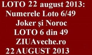 LOTO, 22 august 2013: Numerele Loto 6/49, Joker şi Noroc sport