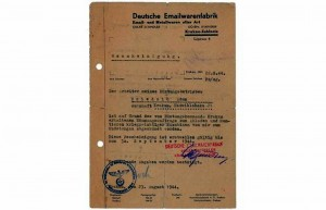 Licitaţie cu documente care i-au aparţinut lui Oskar Schindler