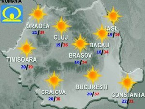 Meteo. Cum va fi vremea vineri, în ţară, la Bucureşti, la munte şi la mare