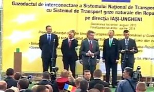 Ponta, Leancă şi Oettinger, la startul lucrărilor gazoductului Iaşi-Ungheni