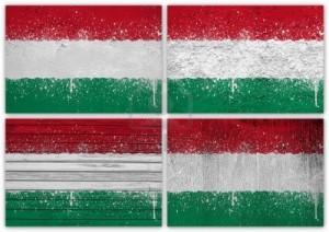 Desene cu steagul Ungariei pe stânci din Cheile Râmeţulu