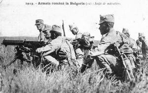 Armata-romana-in-Bulgaria-1913 mitraliori