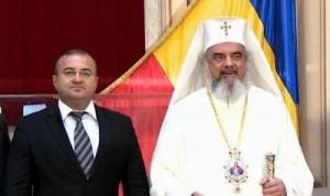 PF Daniel, Patriarhul Bisericii Ortodoxe Române, şi Claudiu Săftoiu, preşedinte-director general al Televiziunii Române