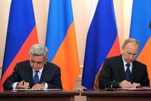 Preşedintele Armeniei, Serj Sarkisian, si Vladimir Putin