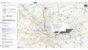 Transportul public din 7 oraşe din România, disponibil în Google Maps