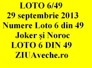 LOTO 6/49, 29 septembrie