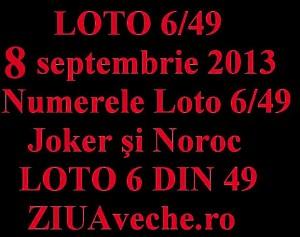 Loto, 8 septembrie: Numerele Loto 6/49, Joker şi Noroc