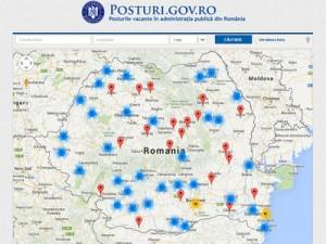 Guvernul a lansat portalul posturi.gov.ro, unde sunt anunţate posturile libere din administraţie
