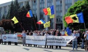 protest anti-Rogozin la Chisinau