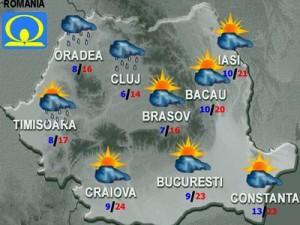 Vremea joi şi vineri. Prognoza meteo 19-20 septembrie