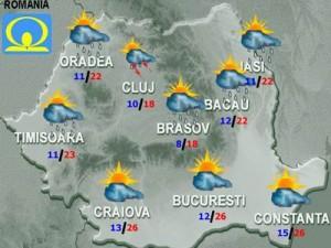 Meteo. Cum va fi vremea marţi şi miercuri, în ţară şi la Bucureşti