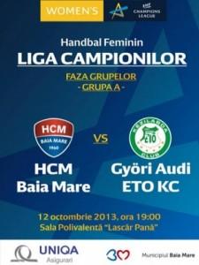 Handbal feminin: HCM Baia Mare - Gyor ETO , scor 21-33