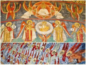 Arhanghelii Mihail şi Gavriil si cele nouă cete îngereşti