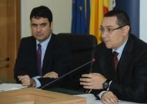 Remus Pricopie, ministrul învățământului, si Victor Ponta