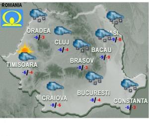 Prognoza METEO. Cum va fi VREMEA luni şi marţi, în ţară şi în Bucureşti