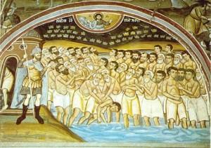 40 de mucenici din Sevastia