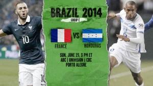 Campionatul Mondial de fotbal 2014. Franta -Honduras