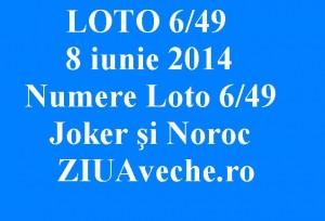 LOTO 6 din 49, 8 iunie 2014