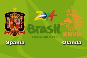 Campionatul Mondial de fotbal 2014. Spania – Olanda, 1-5