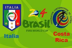 Campionatul Mondial de Fotbal 2014. Italia - Costa Rica, scor 0-1
