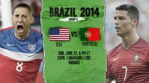 Campionatul Mondial de Fotbal 2014. SUA - Portugalia, scor 2-2