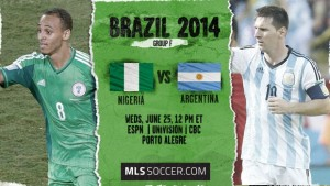 Campionatul Mondial de Fotbal 2014. Nigeria-Argentina