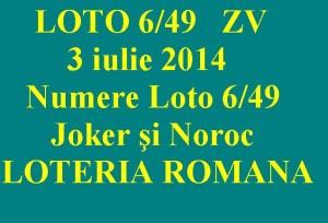 LOTO 6 din 49, 3 iulie. Numere Loto 6/49