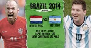 Campionatul Mondial de Fotbal 2014. Olanda - Argentina (live video)