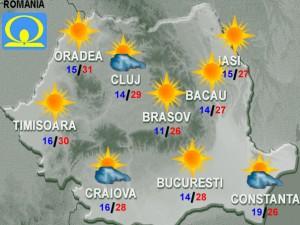 Prognoza METEO. Cum va fi vremea în weekend la Bucureşti, la mare şi la munte