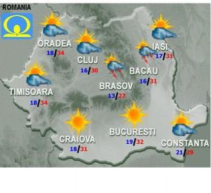 Prognoza METEO. Cum va fi VREMEA luni şi marţi, în ţară şi în Bucuresti