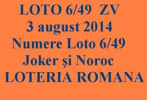 LOTO 6/49, 3 august 2014