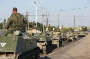 Armata ucraineană a atacat convoiul militar rus care a pătruns pe teritoriul Ucrainei