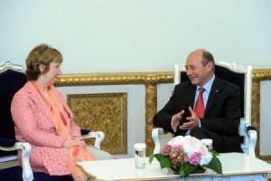 Ce au discutat Băsescu și Catherine Ashton. foto: agerpres