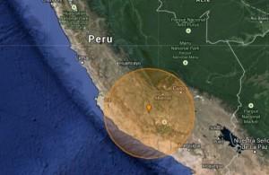USGS: Un seism devastator de magnitudinea 7 a lovit sudul Peru (foto: http://earthquaketrack.com/)