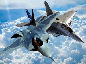 Mig-35 interceptat de F-22