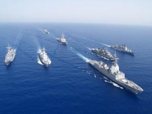 Navele militare NATO se înghesuie în Marea Neagră.
