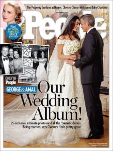 Poză de la nunta lui Clooney și Alamuddin: rochia de mireasă