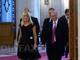 Traian Băsescu și Udrea, la congresul PNȚCD. (foto: Mediafax)