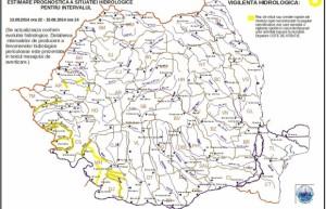 Avertizare INHGA: Cod Galben de inundații pentru mai multe rauri