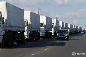 Ruşii trimit convoaie umanitare pe bandă rulantă în Ucraina