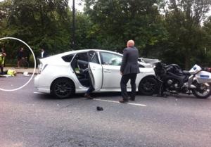 Prințul Harry al Marii Britanii, implicat într-un accident.