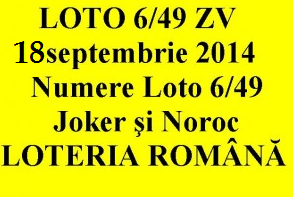 LOTO 6/49, 18 septembrie 2014