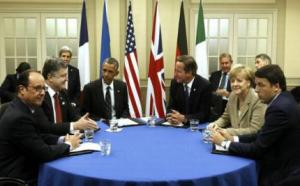 Întâlnirea lui Poroșenko cu liderii occidentali. Foto: Agerpres