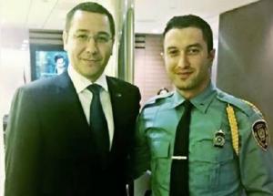 Ponta s-a pozat cu paznicii de la intrarea ONU.
